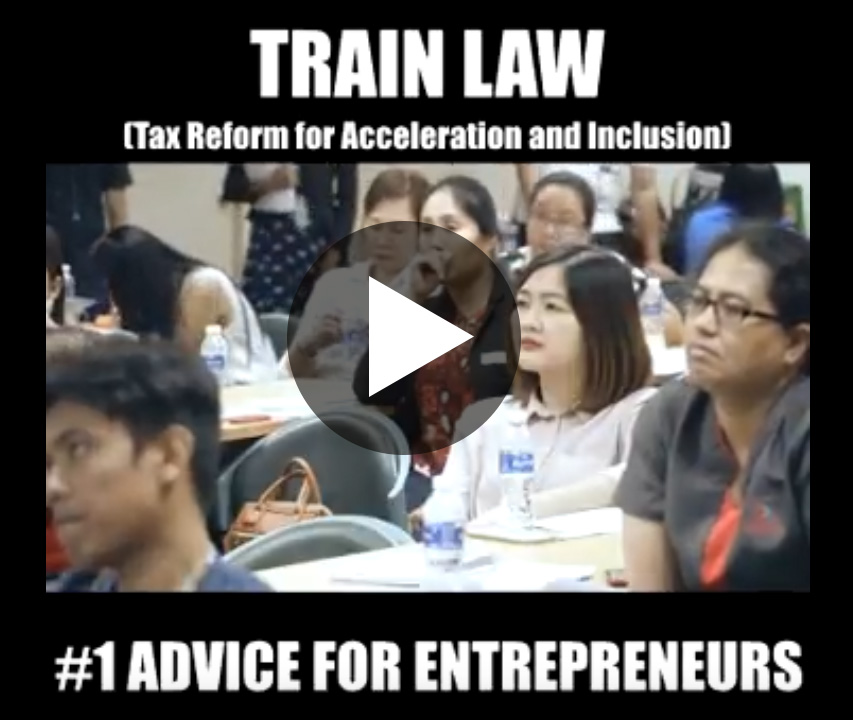 train law series #1 Advice for Entrepreneurs