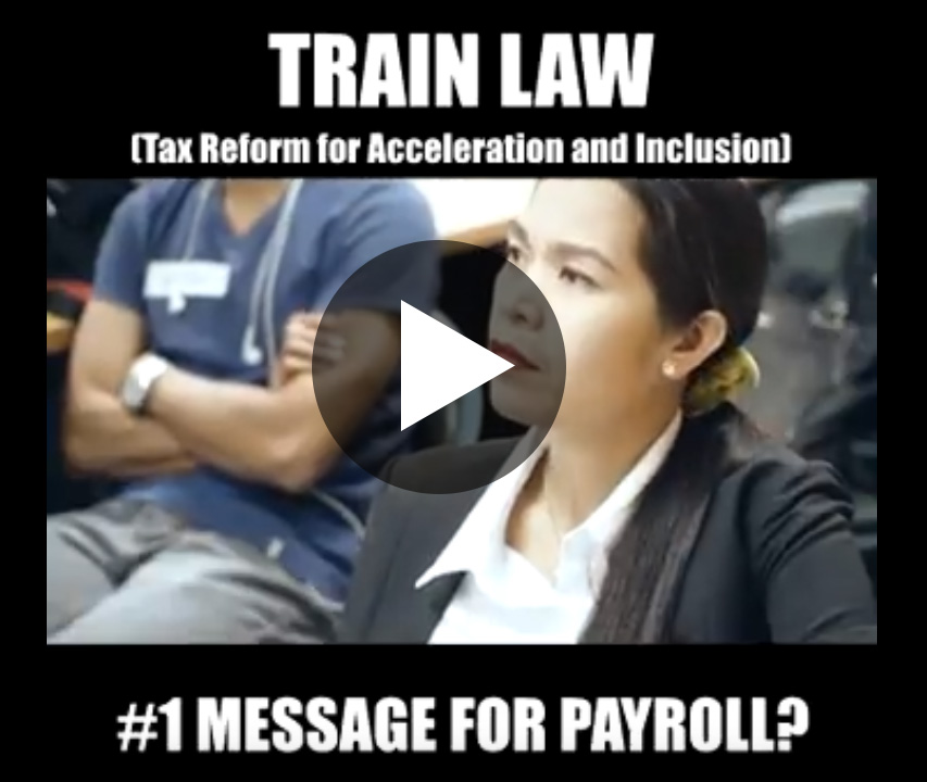 train law series #1 Message for Payroll