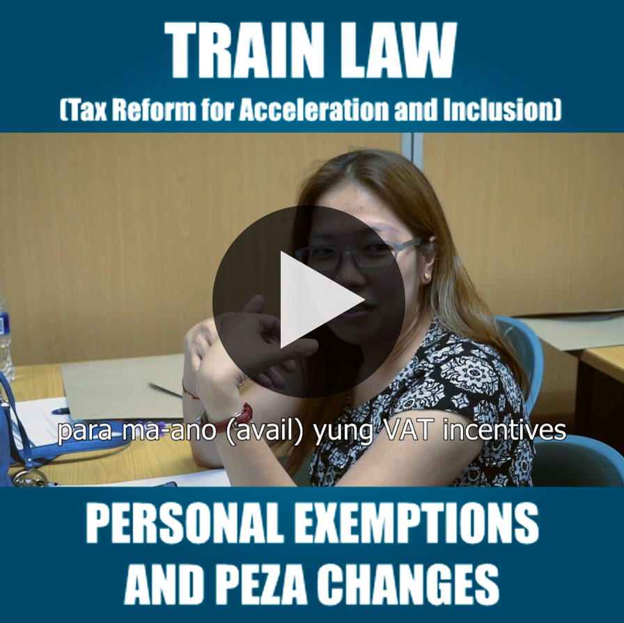 Personal Exemption and PEZA Changes